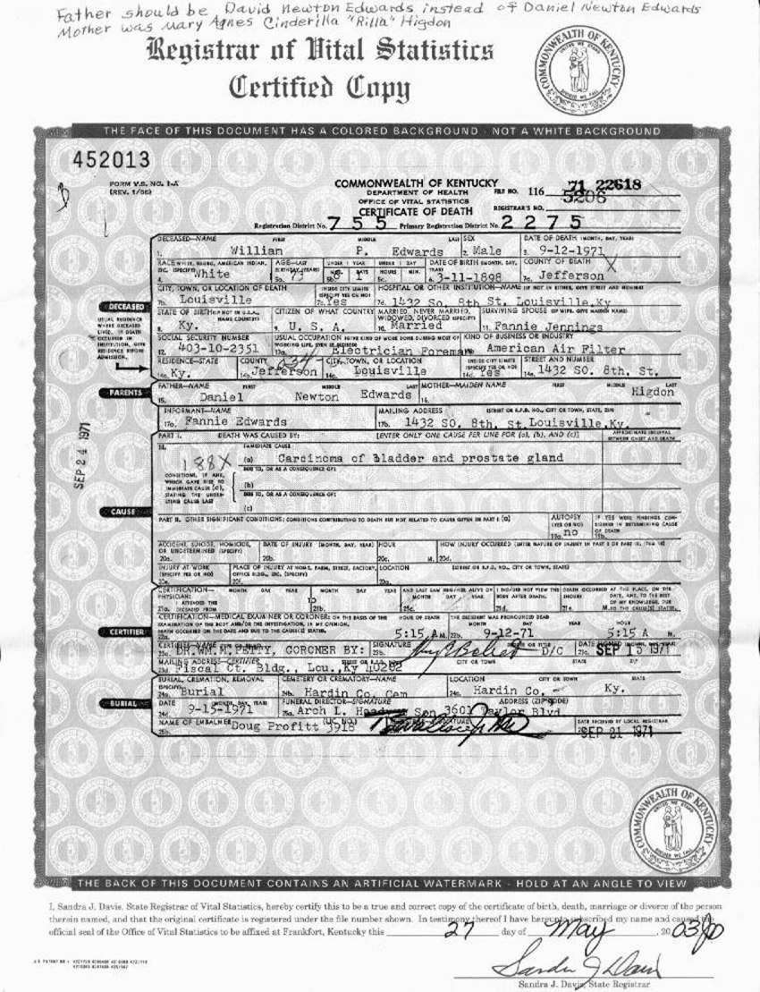 Kentucky Department Of Vital Statistics Birth Certificate Best