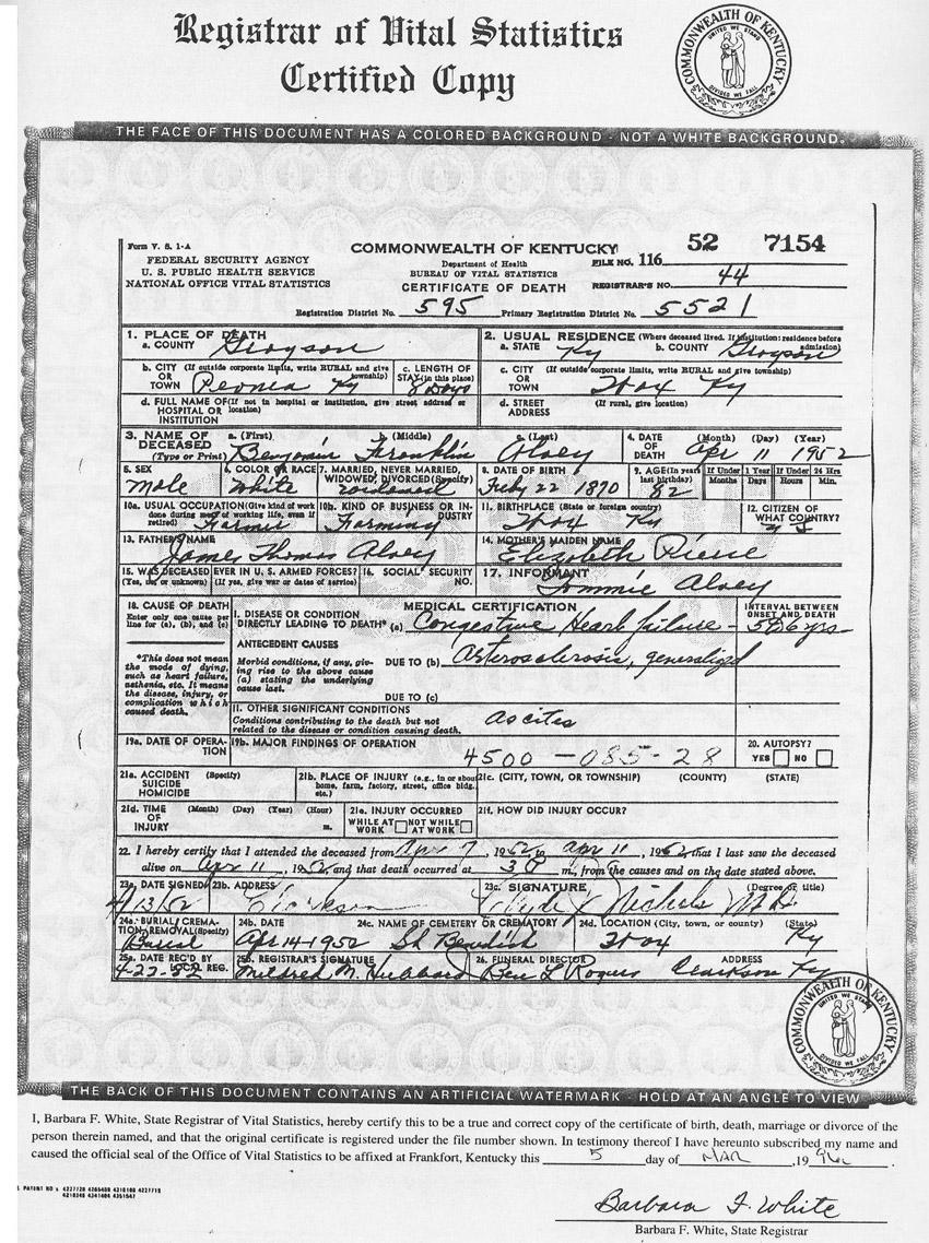 Hart death alvey benjamin franklin frank aiddatafo Image collections