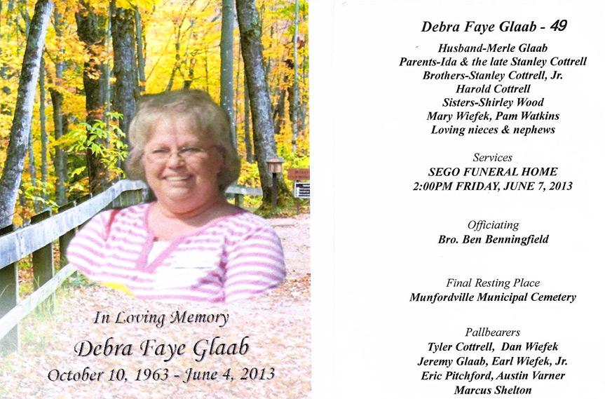Debi Cottrell Glaab Obituary