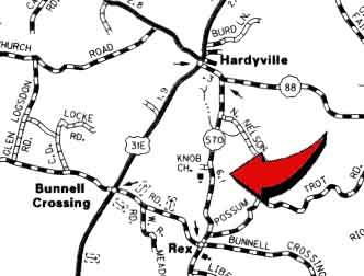 Allen Seminary Baptist Church Map