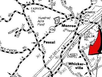 Ladies Chapel Uniter Methodist Church, Whickerville Map