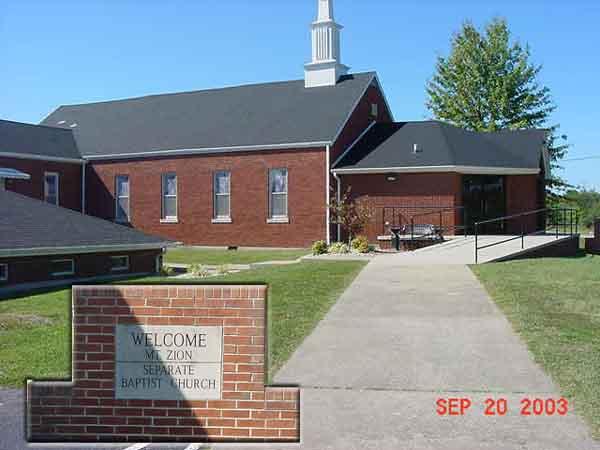 Mt. Zion Seperate Baptist Church