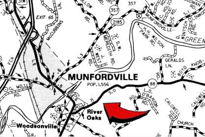 Munfordville Church of God Map