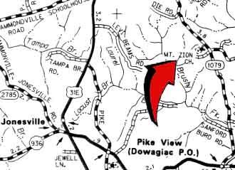 Mt. Zion Seperate Baptist Church Map